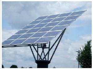 Drehbare Photovoltaik-Anlage (Foto: Peter von Bechen  / pixelio.de)